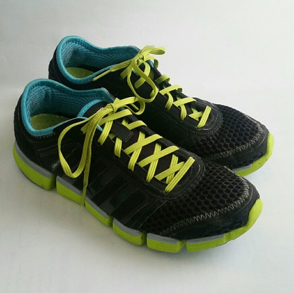 Sacrificio Fahrenheit Ejercer  adidas Shoes | Climacool Sneakers Black Green Aqua Teal | Poshmark